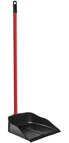 "Dustpan with Handle by Ravmag- Solid Natural Rubber Construction- 40"" Long Handled Dust Pan- Stand Up Design- Accommodates Any Broom/ Hand Brush- Best Dustpans for Home/ Lobby/ Shop ()"