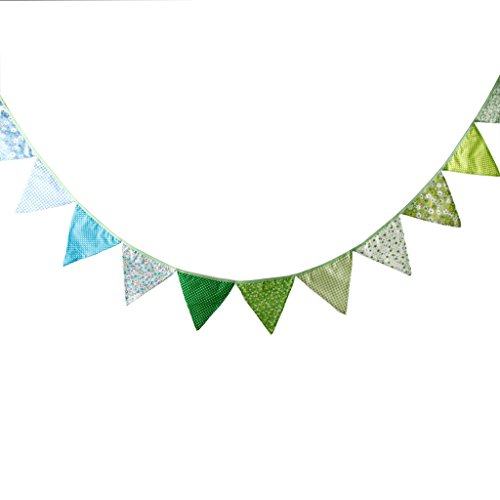 Multi Colored Fabric Bunting For Party Birthday Wedding Anniversary Celebration Baby Shower(Garden) for $<!--$9.99-->