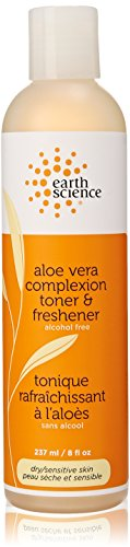 Facial Toner   Freshener Aloe Vera Earth Science 8 Oz Liquid