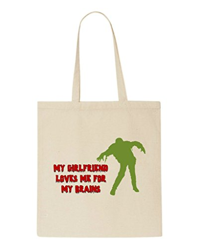 Me Bag My For Shopper Beige Brains Loves Statement Zombie Girlfriend Tote pPfqwaE