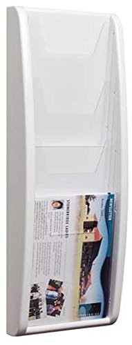 - Sportsgear US 4 Tier Wall Mounted Moulded Plastic Stand A5 Leaflet Holder Dispenser White