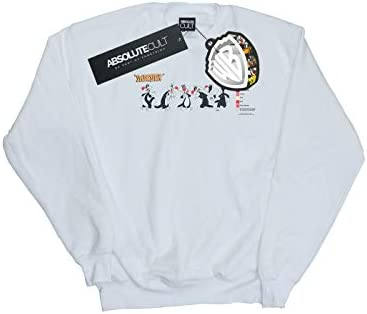 Absolute Cult Looney Tunes Herren Sylvester Colour Code Sweatshirt Weiß X-Large
