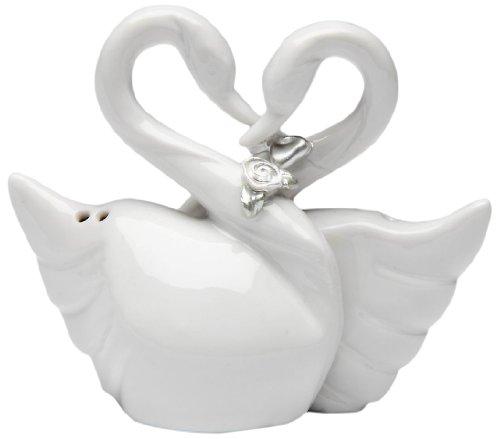 Appletree Design The Perfect Wedding Swan Couple Salt and Pepper Set, - Salt Swan