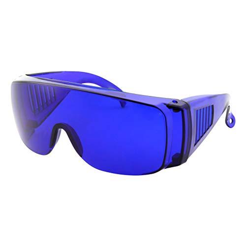 Golfball Finder Glasses - Blue Lens Cover Over Sunglasses - Wear Over Prescription Eyeglasses -