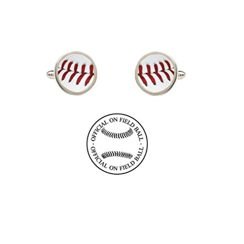 Official On Field Leather Baseball Cufflinks with Gift Box (Tampa Bay) -