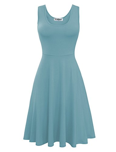 Tom's Ware Womens Stylish Sleeveless Skater Dress TWCWD155-NIAGARA-US - Most Stylish Dresses