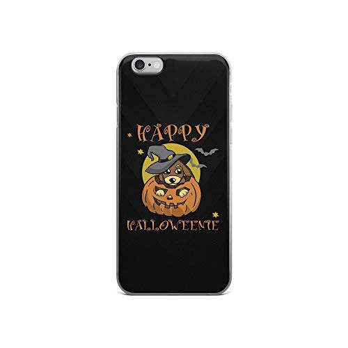 iPhone 6/6s Pure Clear Case Cases Cover Happy Halloweenie - Cute Dog TPU Anti Slip Edge Compatible -
