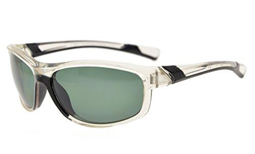 Eyekepper Polycarbonate Polarized Sport Sunglasses For Teenagers Baseball Running Fishing Driving Golf Softball Hiking TR90 Unbreakable Clear Frame - Narrow Sunglasses Bridge