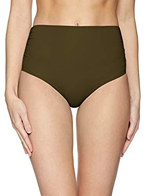 Anne Cole Women's High Waist to Fold Over Shirred Bikini Bottom Swimsuit