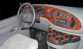 FORD ECONOLINE E SERIES E-SERIES E-150 E150 E-250 E250 E-350 E350 INTERIOR BURL WOOD DASH TRIM KIT SET 2000 2001 2002 2003 2004 2005 (Wood Kits Dash Molded)