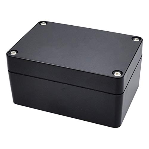 Pinfox 2 Pack Black Waterproof Plastic Project Box ABS IP65 Electronic Junction box Enclosure 3.94 x 2.68 x 1.97 inch (100 x 68 x 50 - Box Plastic Abs