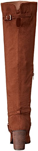 Madden Girl Womens Daallas Riding Boot Chestnut Microsuede hMPor