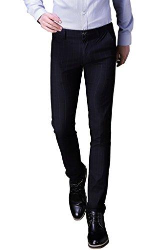 Pour Costume Slim Black Les De Ft Pantalon Homme Cérémonies Parfait Party Business xwR6p