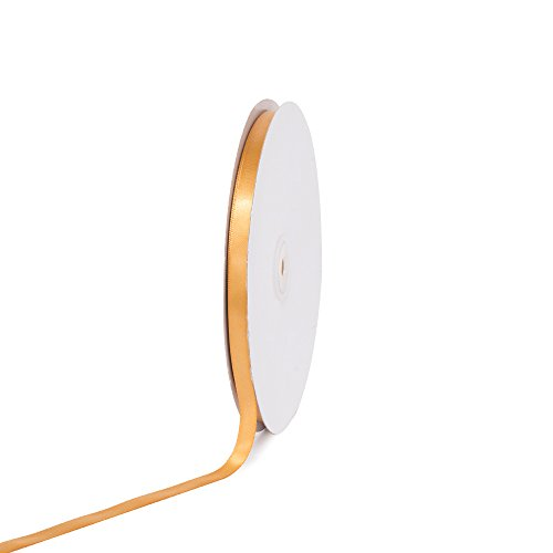 Gold Polyester Ribbon (Creative Ideas PSF0308-690 Solid Satin Ribbon, 3/8