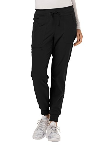 HeartSoul Break On Through HS030 The Jogger Low Rise Tapered Leg Pant (Black, Small Petite) ()