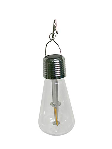 Echo Valley 4515PK4 EDI-Sol Vintage Solar Lighting Hanging Light Bulb with Clip, Clear (Pack of - Sol Lighting Solar