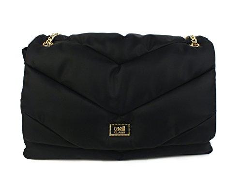CAVALLI CLASS #LeoPride borsa catena TESSUTO BLACK LEOPARD CLU.003 U