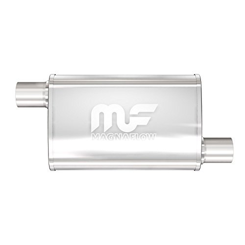 Magnaflow 11236 Satin Stainless Steel 2.5 Offset Oval Muffler by Magnaflow