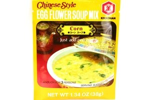 Egg Flower Soup - kikkoman chinese style egg flower soup mix corn - 1.3oz [3 units] (041390030840)