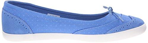 Lacoste Women's Loxia 216 1 Boat Shoe, Blue, 8.5 M US