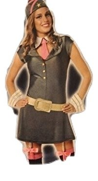 Sexy Gi Jane Costumes (Womens/Teen Adult Army Girl Deluxe 5 Piece Costume Sexy GI Jane Role Play Sexy Small 2-4)