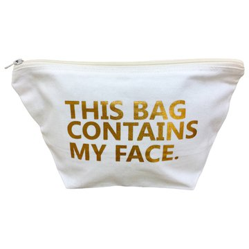 This Bag Contains My Face Toiletry Bag Travel Kit Cosmetic Makeup Case Ella Sussman