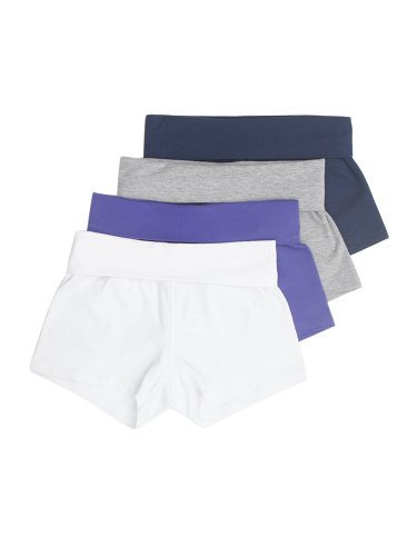 Fold Over Solid or 2 Color Yoga Shorts