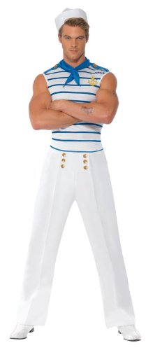 Smiffys Fever Male French Sailor Costume - http://coolthings.us