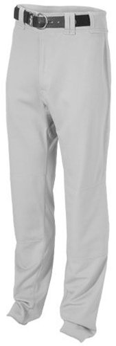 Rawlings Men's Straight Fit Unhemmed BPU350 Baseball Pant, Blue Grey, X-Large (Pant Baseball Unhemmed)