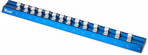 Vaper 38098 3/8'' Drive Metric Magnetic Aluminum Socket Rail