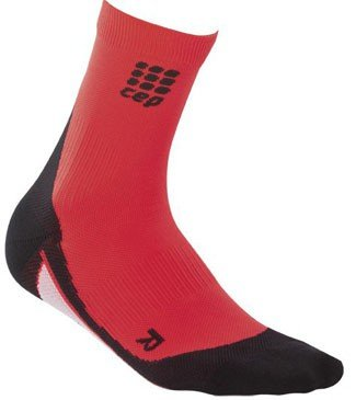 Red Bone Step - CEP Women's Dynamic+ Short Socks, Size II (Above Ankle Bone 7-8-Inch), Red/Black