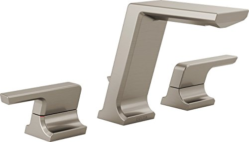 Delta Faucet 3599LF-SSMPU Pivotal Two Handle Widespread Lavatory Faucet, Stainless