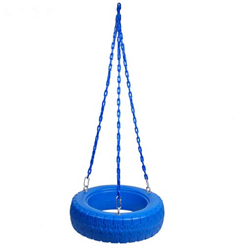 Tyre Tree Swing - Garden Canopy Swings with Extra Long 1.5 M Attachment Rope Disc Giant Hanging Netted Basket Playground Equipment Toy