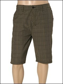 Hurley Barcelona Brown Plaid Men's Shorts (Hurley Plaid Shorts)
