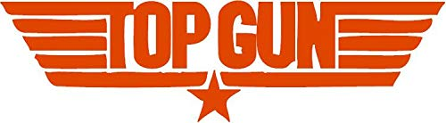 TOP Gun Vinyl Decal Sticker for Window ~Car ~ Truck~ Boat~ Laptop~ iPhone~ Wall~ Motorcycle~ Helmets~ Gaming Console~ Size 6