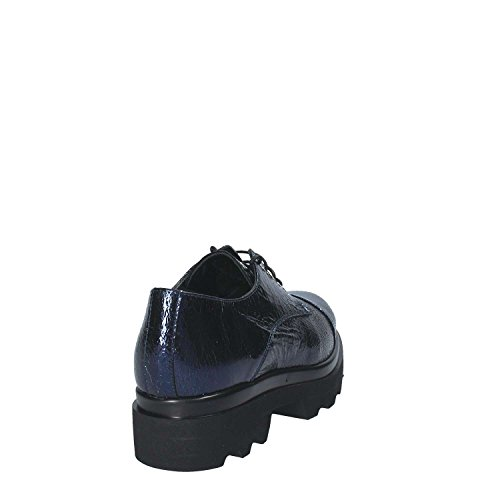 up SHOES GRACE Blau Heels 18121 Lace Frauen RwA0q
