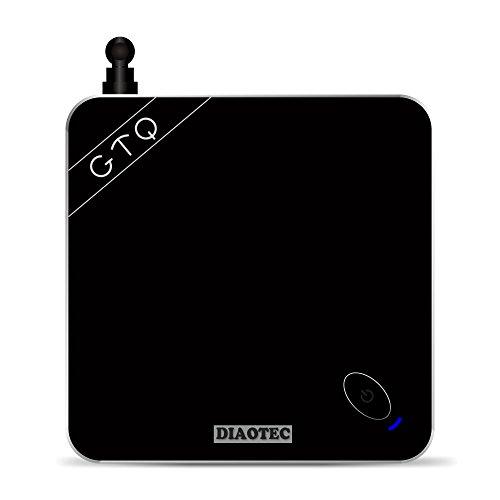 DIAOTEC(TM) GTQ (Black) Smart TV Box, Android 5.1/Amlogic S812 Quad Core CPU/ Octa core ARM Mali-450 GPU/ UHD 4K*2K, HEVC H.265, 1080P, Miracast/DLNA/Kodi, 2 GB DDR3 RAM, 8GB ROM, HDMI, Bluetooth 4.0