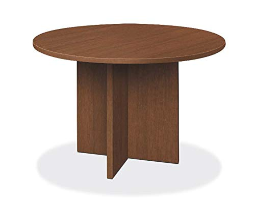 HON LMC48DF Foundation Conference Table Round Flat Edge Profile X-Base 48