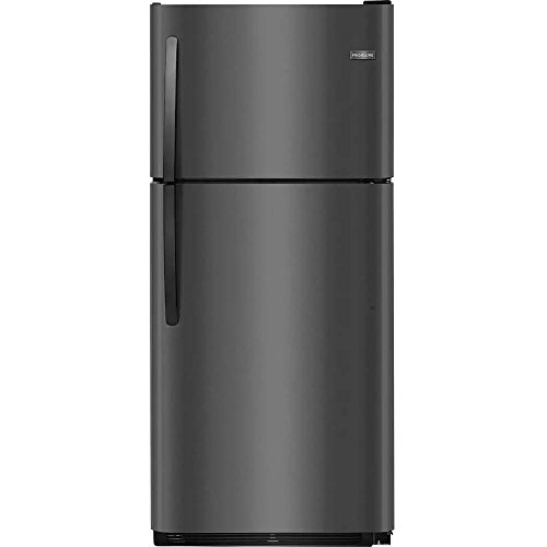 Frigidaire FFTR2021TD 30 Inch Freestanding Top Freezer Refrigerator with 20.4 cu. ft. Total Capacity, in Black Stainless Steel