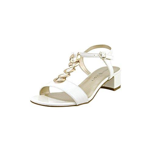 Karen Scott - Sandalias de vestir para mujer blanco