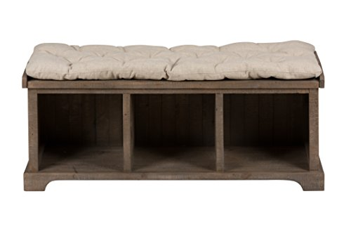 Jofran 940-14 Slater Mill Storage Bench, Pine