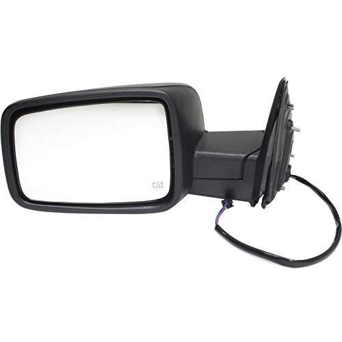 (Kool Vue DG84EL Mirror for RAM 1500/2500 P/U 13-17 LH Power Man Fldg Heated Textured Black)