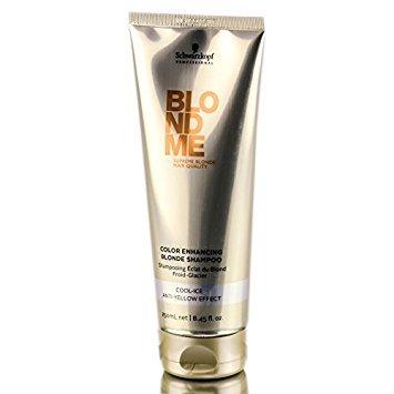 Schwarzkopf Blondme Tone Enhancing Bonding Shampoo Cool Blondes 250ml/8.45oz Tone Color Enhancing Shampoo