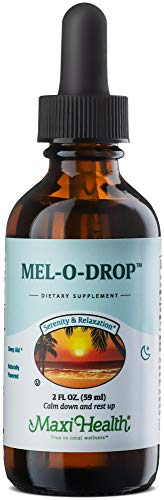 Liquid Melatonin w/dropper - Natural Sleep Aid for Children and Adults - Delicious Vanilla Flavor - 2 Fluid Ounce Bottle - Kosher Certified - Mel-O-Drop by Maxi Health