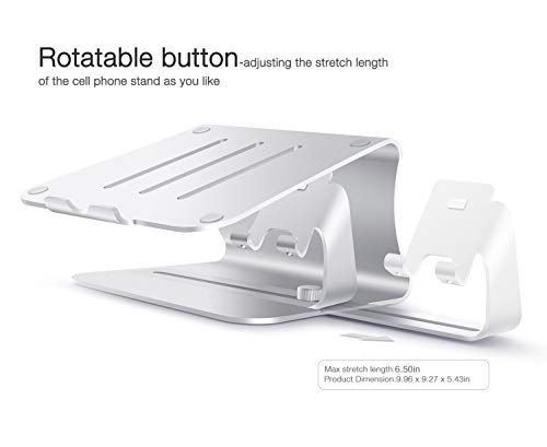 2 in 1 Laptop and Phone Stand - Bestand Aluminum Cooling Computer Stand: [UPDATE VERSION] Stand, Holder for Apple Macbook Air, Macbook Pro, All Notebooks, iPhone Series, Silver (Patented) by Bestand (Image #7)