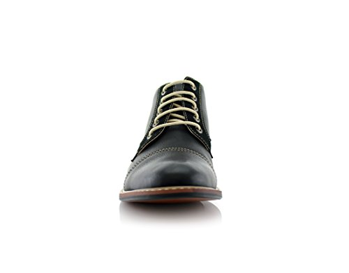 Ferro Aldo Eli MFA506013 Mid Top Casual Work Boots For Every Day Wear Black bwwsapYg