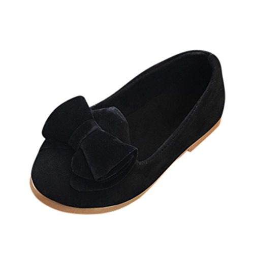 DEESEE(TM) Baby Shoes for 0-6Years Old, Summer Girls Solid Bowknot Soft Flat Beach Sole Princess Casual Single Shoes (3T, Black) from DEESEE(TM)