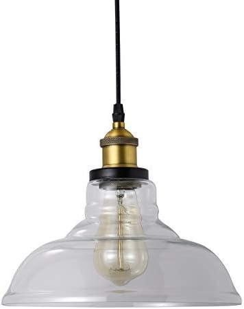 1-Light Glass Pendant Hanging Light