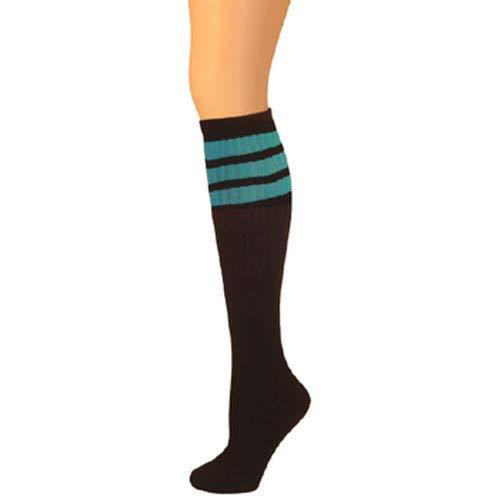 bd3fc8a9626 AJs Retro Knee High Tube Socks - Black