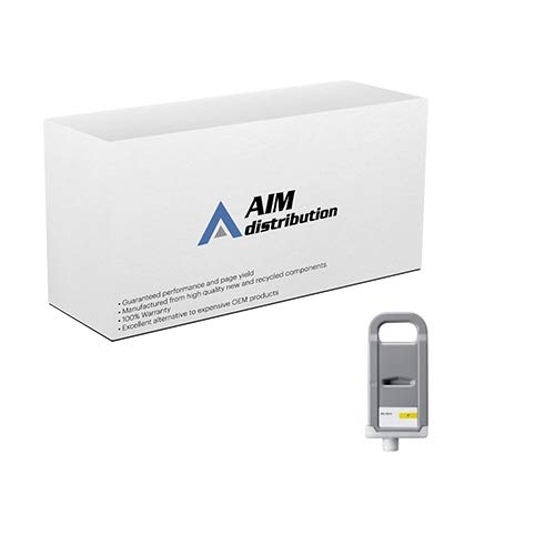 (AIM Compatible Replacement for Canon PFI-701Y Yellow High Yield Wide Format Inkjet (700 ML) (0903B001AA) - Generic)